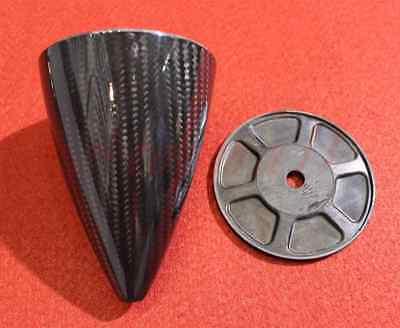 """3""""/76.20mm Carbon Fiber Cone Prop Spinner For Gas RC planes with Two blade"""