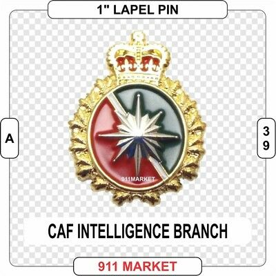 """Intelligence Branch 1"""" Pin Canadian Forces Mini Cap Intel Canada Badge CAF - A39"""