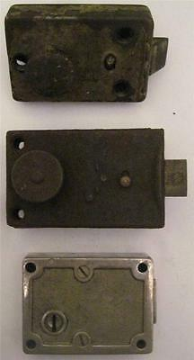 Lot of 3 Antique/Vintage Door Locks Salvaged #67/69