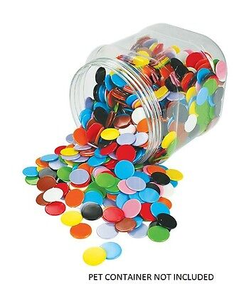 Counters Solid 22mm 100 pieces Bag 10 Colours Maths Games Teacher Resources Kids