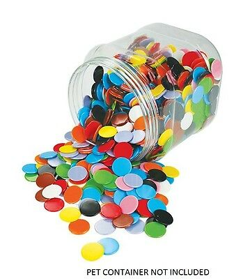 Counters Solid 22mm 100p  Bag 5 Colours Maths Games Teacher Resources Learning