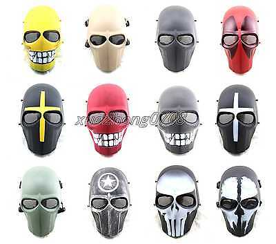 Cacique Tactical Military Airsoft Hunting Full Face Skull Skeleton Cs Mask