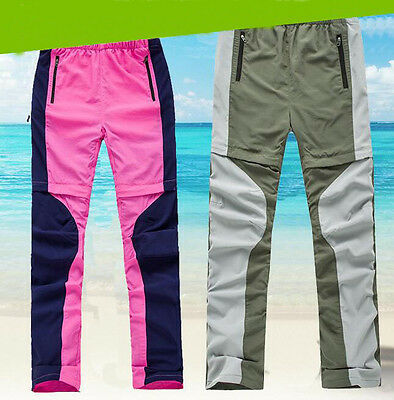 7466 Women Quick-dry Trousers Removable Waterproof Camping Hiking Outdoor Pants