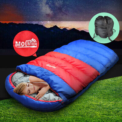 Mountview Camping Sleeping Bag Outdoor Thermal Hiking Tent Winter King 100x190CM