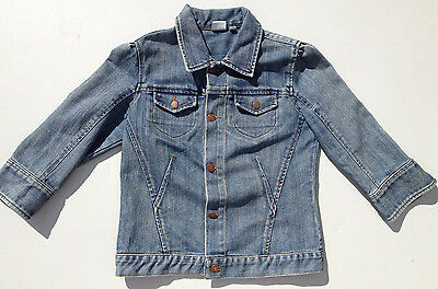 Levi's Jean Jacket Girls Size L Signature Denim Indigo EUC RRP $149