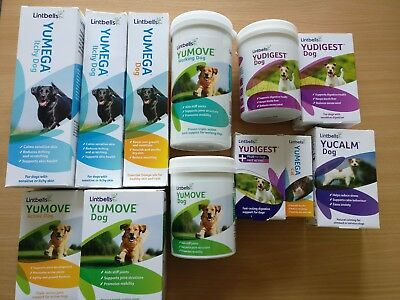 Lintbells YuMOVE YuMega Dog Joint Supplement for Stiff & Older Dogs Itchy Dog