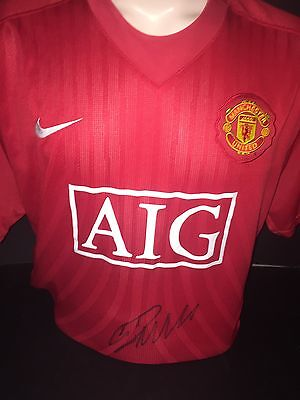 Signed Manchester United Retro 2008 Champions League Shirt by Cristiano Ronaldo