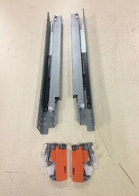 Undermount Soft Close Full Extension Drawer Slides With Locking Device-LOT OF 3