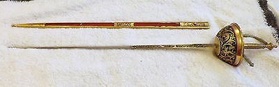 """Vintage Toledo Fencing Sword with Sheath Made in Spain 34 1/2"""" Long"""