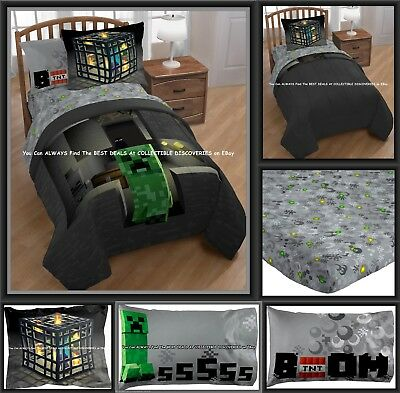 Minecraft Bed In A Bag Twin Bedding W Comforter 3 Pc Sheet Set