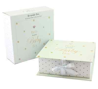 Hello Baby Powder Blue Diamante Embelleshed Keepsake Box #LP71533