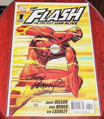 FLASH Fastest Man Alive #1 NM Variant SIGNED Andy Kubert KEY Flashpoint Rebirth