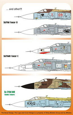 """Authentic Decals Su-24 M/MR Fencer D/E """"Islamic Fencers"""" 1:48 #48-32"""