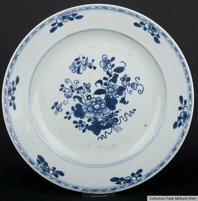 China 18. Jh. Teller Qing A Chinese Blue & White Plate Qianlong - Piatto Cinese