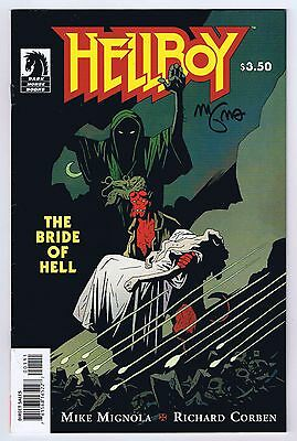 Hellboy the Bride of Hell Signed Mike Mignola w/COA VFNM 2009 Dark Horse