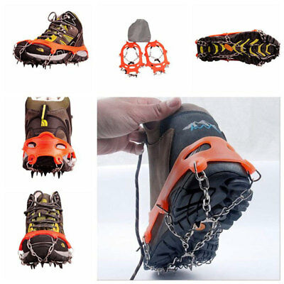 Anti Slip 10-Teeth Ice Snow Shoes Spike Grip Boots Chain Crampons Grippers Cover