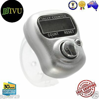 3 X Mini Digit LCD Electronic Digital Golf Finger Hand Held Tally Ring Counter