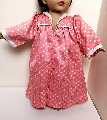 "HOUSECOAT- Pink lounge pajama robe- American Girl Authentic- 18"" Doll Clothes"