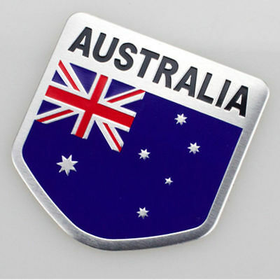Aluminum 3D Australia Australian Flag Car Auto SUV Emblem Badge Decal Sticker