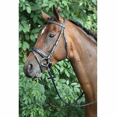 Horka Equestrian Caran Swedish Leather Noseband Bridle And Rein With Stopper