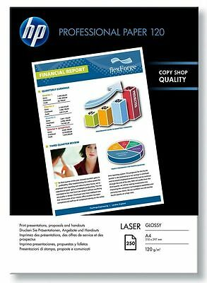HP CG964A Professional Glossy Laser Paper A4 120gsm 250 Sheets White