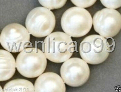 1 Strands 8-9mm White Freshwater Cultured Pearl Loose Beads 14.5""