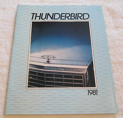 Vintage 1981 Ford THUNDERBIRD Color Sales Catalog Brochure Car Automobile Auto