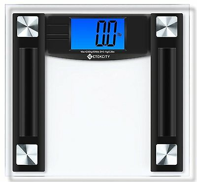 Etekcity 506lb/230kg Digital Body Weight Bathroom Scale with 4.3-Inch Backlit LC