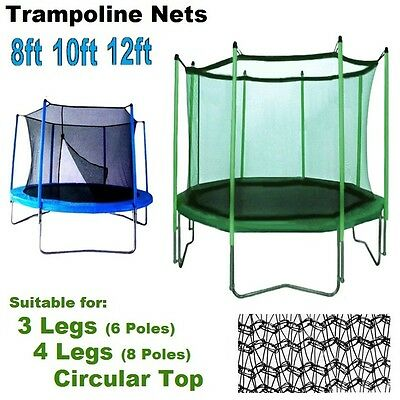 Top Trampoline Enclosure Replacement Upper Nets Safety Bounce Universal Surround