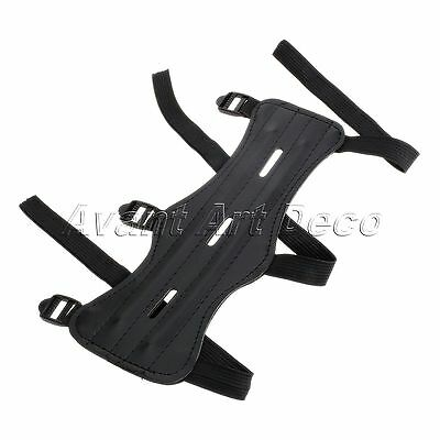 3 Strap Archery Arm Guard Wrist Protector Leather Shooting Target Safe Strap