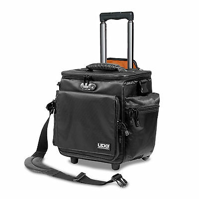 UDG SlingBag Trolley Deluxe MK2 Black/Orange inside (U9981BL) für ca 60 Vinyls