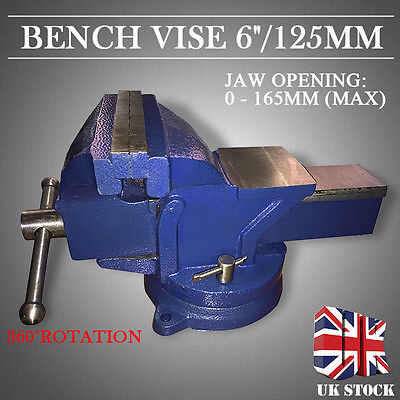"6"" 150mm Heavy Duty Work Bench Vice Vise Workshop Clamp Engineer Jaw Swivel Base"