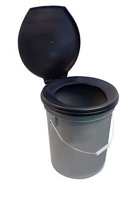 Need-A-Loo Portable Camping Festival Chemical Toilet Bucket With Seat & Lid b310