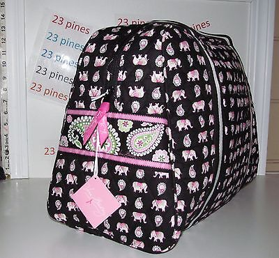 Vera Bradley Sold Out Pink Elephant Pattern Sport Duffel Bag Nwt