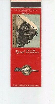 MATCHBOOK COVER Western Maryland Railway