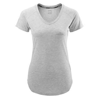 Kathmandu driMOTION Womens Active Short Sleeve Tee Running T-Shirt Top Grey