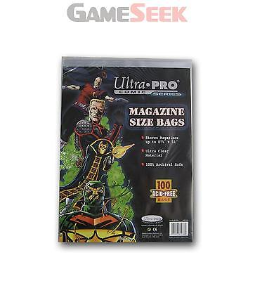 Magazine Comic Bags:pack 100 - Toys/games Card Games Brand New Free Delivery