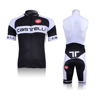 CU-823 New men cycling jeresy Cycling clothes + bib shorts set Race Fit GEL PAD