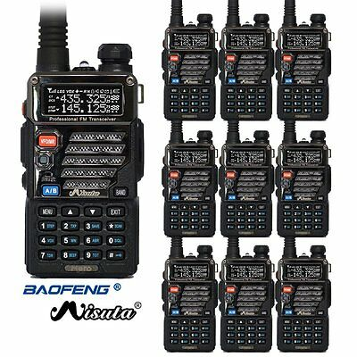 10x Baofeng / Misuta Hero UHF Dual Band Two Way FM Radio + UV-5R Earpiece UK