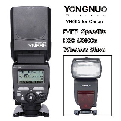 Yongnuo YN-685 Wireless HSS E-TTL Flash Speedlite for Canon YN560TX RF-605 UK