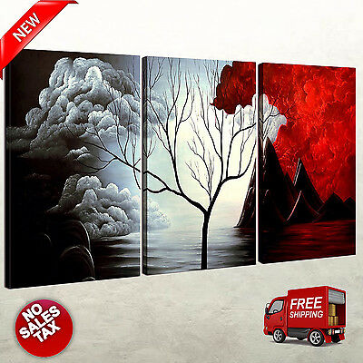3 Panels Wall Decor Canvas Print Home Art Framed Abstract Landscape Painting