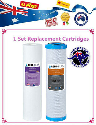 1 Set Replace Water Filter Cartridges 0.5 Micron Sediment + 0.5 Micron Carbon