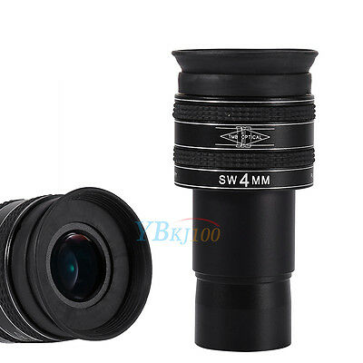 1.25 Inch 58-Degree 4mm Focal Length SWA Planetary Eyepiece Lens  For Telescope