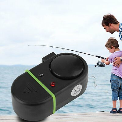 New Electronic LED Light Fish Bite Sound Alarm Bell Clip On Fishing Rod P5
