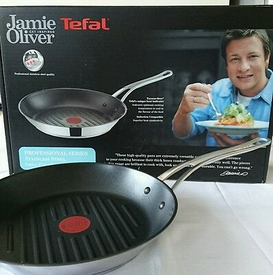 sale***Tefal Jamie Oliver  Professional Nonn Stick Grill Pan 28cm - Induction