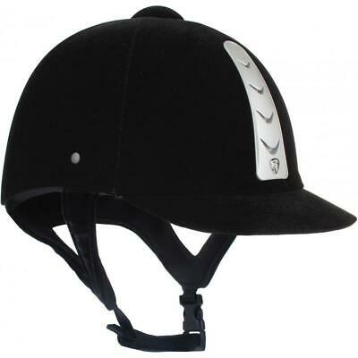 Red Horse Equestrian Velvet Hawk Rider Competition Event Jumping Safety Helmet