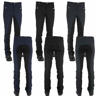 Horka Equestrian Mens Oslo Comfort Breathable 4/4 Stretch Leather Seat Breeches