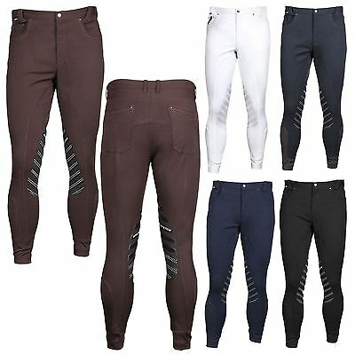 Horka Equestrian Mens Dublin Elasta Silicon Patches Breathable Riding Breeches
