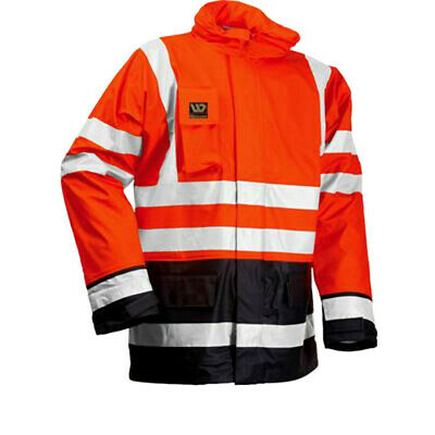 Wenaas 95353 Mens FR Jacket Waterproof Flame Resistant Hi Vis Winter Rain Coat