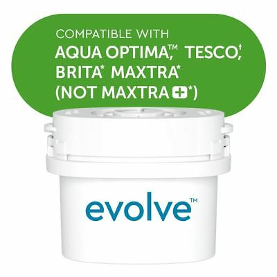Aqua Optima Evolve Water Filters Refill Repacement Cartridge, fits BRITA MAXTRA